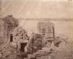 General view of ruined temples, Telkupi, Manbhum District.